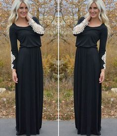 New Sexy Women Lace Casual Long Sleeve Evening Party Cocktail Long Maxi Dress  #Unbranded #BallGown #Casual