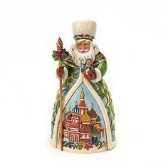 Jim Shore Heartwood Creek from Enesco Russian Santa Figurine 7 IN