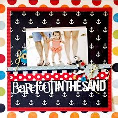 Layout: barefoot in the sand