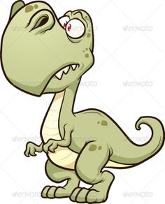 Buy Cartoon Tyrannosaurus Rex by memoangeles on GraphicRiver. Vector clip art illustration with simple gradients. All in a single layer. Dinosaur Drawing, Cartoon Dinosaur, Dinosaur Art, Cute Dinosaur, T Rex Cartoon, Cartoon Drawings, Cute Drawings, Drawing Sketches, Paper Animals
