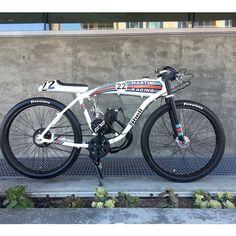 "Cool little custom build from @dutchmanmotorbikes 💨💨 I""ll take two! #caferacerxxx #motorized #bikes"