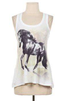 Horse Tank Top Shirt T-Shirt Size S , M , L , XL Tie Dye Horse Print Tank Top Cute T Shirt on Etsy, $18.99