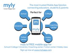 Do you know what is ‪#‎myly‬? Sign Up now at www.mylyapp.com myly perfect for school, college, university, university coaching center tuition, and center hobby class. Download free mylyapp http://bit.ly/1i0V9MM