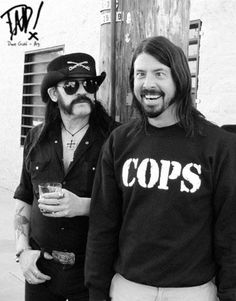 Dave Grohl and Lemmy at the filming of White Limo