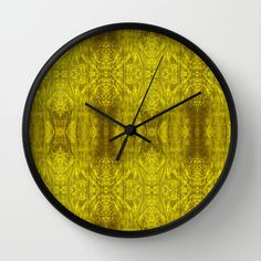 Triangular Tree Wall Clock by Tika Calderon - $30.00
