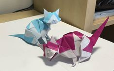 Origami Cat, Origami Animals, Crafty Projects, Preschool Activities, Paper Flowers, Paper Crafts, Rabbits, Animals, Paper Hats