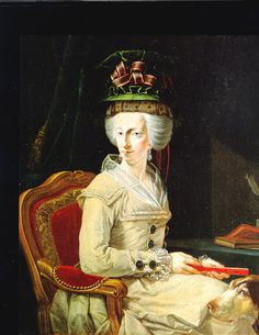 Archduchess Maria Amalia of Austria by John Zoffany.  Undated, but my guess is late 1780s based on that amazing hat.