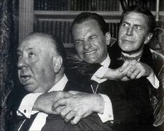 Alfred Hitchcock, James Gregory and Vincent Price