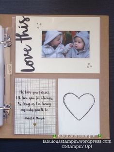 Stampin' Up! Memories and More baby album first year Bundle of Love M&M card pack