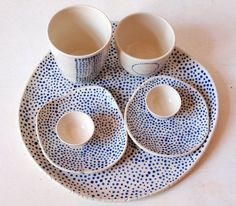 LOVE this pottery by ema-mamisu....I've got a thing for dots!!