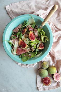 Fig and prosciutto salad