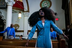 Alex Webb - USA. Brooklyn, NY. April 17, 2016. Mt Pisgah Baptist Church in Bedford-Stuyvesant that Hillary Clinton visited during her campaign.