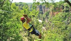 Canopy Tour in Victoria Falls. This is what the experience looks like. Slide through the Zambezi Forest on cables. and enjoy! Knysna, Victoria Falls, Autumn Activities, Activity Days, Natural Wonders, Day Trips, Wonders Of The World, Canopy, Grand Canyon