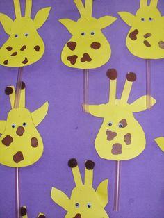giraffe puppet craft