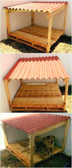 30 + Inspirierende DIY Palettenholz hausgemachte Möbel Pläne Inspirational DIY Pallet Wood Homemade Furniture Plans Pallet Ideas, Pallet Projects, Pallet Furniture, DIY Pallets And So On Inspirational DIY Pallet Wood Homemade Furniture Plans Pallet Dog House, Dog House Plans, Diy Pallet Bed, Pallet Lounge, Diy Pallet Projects, Wood Projects, Garden Pallet, Pallet Dog Beds, Garden Projects