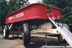 Giant Red Wagon in Spokane Wa. First leg of my Spring break trip to Oklahoma. Need to visit middle daughter in Spokane first. Washington State, Spokane Washington, Radio Flyer Wagons, Spring Break Trips, Red Wagon, Roadside Attractions, Vacation Destinations, Pacific Northwest, Places Ive Been