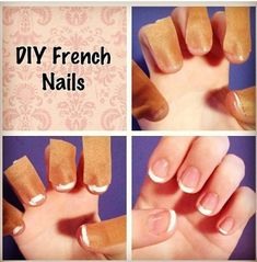 50 Trendy French Manicure Tips Nail Hacks New French Manicure, French Tip Nails, Blue Coffin Nails, Coffin Shape Nails, Nail Polish Hacks, Clear Nail Polish, Manicure Tips, Nail Tips, Manicures