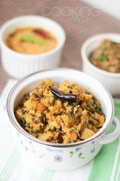Cooking With Siri: {Amma's Recipes} - Andhra Style Kanda Bachali Koora   Suran (Elephant Foot Yam) and Malabar Spinach Curry Recipe