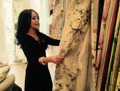 Great start to my visit checking out the beautiful Creative Director, Hamilton, Fabrics, Interiors, London, Beautiful, Dresses, Design, Fashion