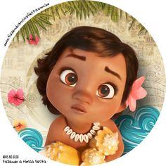 "18/"" Disney Globo Lámina forma redonda Moana Maui Niños Decoración Fiesta De Cumpleaños"