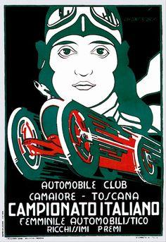 Vintage Italian Posters ~ #illustrator #Italian #posters ~  Italian car poster