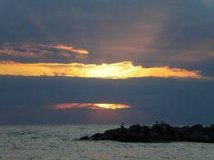 Summer sunset over Lake Erie, Pennsylvania
