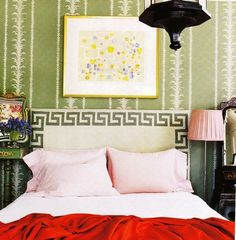 Greek key bed? Yes. Yes. Please.
