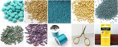 Margaretta – wisior z koralikami Dagger – tutorial Art Tips, Bead Earrings, Projects To Try, Beads, Stone, Beadwork, Blog, Jewelry Making, Tutorials