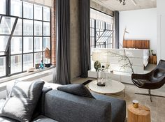 Small Space Tour: A 540-Square-Foot Industrial Loft   House & Home