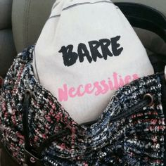 Barre Sock Bag - Barre Necessities. Our best seller is back in stock! What are your Barre Necessities? Your deepest plie? Check. Your highest releve? Check. Your oh-so-cute sticky socks? Check! Now you can keep your #barresocksituation contained and wrapped up like Christmas morning in this limited edition Barre Sock Bag. Shop now at https://www.simplyworkout.com/ #PureBarre #BarreGirl #BarreAddict #BarreWorkoutClothing #Barre