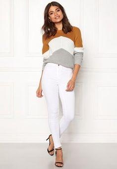 Bubbleroom - Sko & Klær på nett White Jeans, Pants, Fashion, Trouser Pants, Moda, La Mode, Women's Pants, Fasion, Women Pants