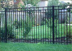 DIY: Horizontal Shadow Box Fence Installation Ornamental Fencing, Iron Fence & Wrought Iron Fence In Front Yard Fence, Dog Fence, Fenced In Yard, Pallet Fence, Rod Iron Fences, Wrought Iron Fences, Fence Landscaping, Backyard Fences, Shadow Box Fence