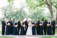 beautiful example of navy + black in the bridal party