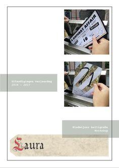 Portfolio Laura Pelgrims - Uitnodigingen en naamkaartje kalligrafie