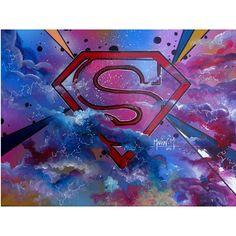 """ Man of steel "" Bombe à peinture + acrylique"