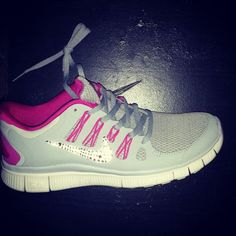 a99bb39fa59ea Bling Swarovski Nike Free Run 3.0 V5 Dusty Grey Pink  running  shoes  nike