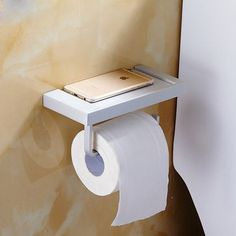 Bathroom Accessories Stainless Steel Toilet Roll Paper Holder Aluminum Paper Holder Towel Rack For Placing Mobile Phone