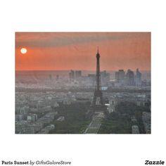 Paris Sunset Fleece Blanket