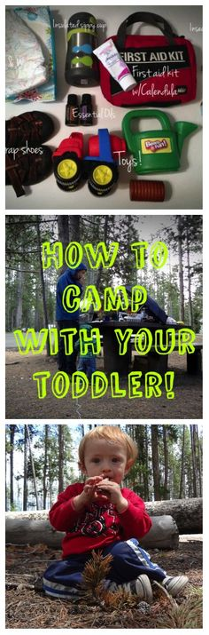 Best list of camping tips & tricks I've found, if you are thinking about a trip anytime soon this is a must pin! She even includes a packing list! #toddlers #kids #camping