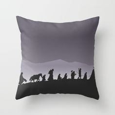 #lordoftherings Throw Pillow made from 100% spun polyester poplin fabric, a stylish statement that will liven up any room. Individually cut and sewn by hand, each pillow features a double-sided print and is finished with a concealed zipper for ease of care.  Sold with or without faux down pillow insert.
