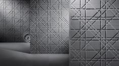 Wall-mounted decorative panel / natural stone / 3-D TARTAN by Raffaello Galiotto Lithos Design
