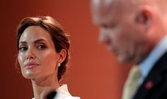 Angelina Jolie and her fellow LSE professor William Hague.