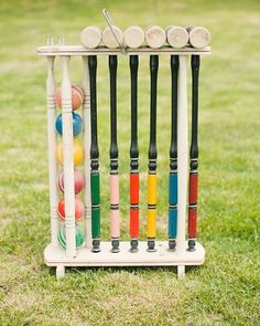 Croquet wuold be SO fun either before wedding, or after! Perfect for an outdoor/alice themed wedding