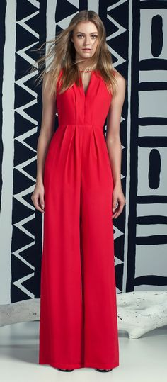 40 Best Ideas for Night Out Outfit - Nona Gaya Red Fashion, Girl Fashion, Fashion Looks, Fashion Outfits, Womens Fashion, Fashion Ideas, Red Jumpsuit, Jumpsuit Outfit, Classy Outfits