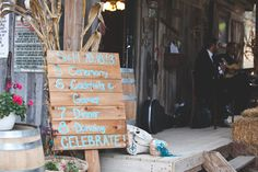 Schedule sign + acoustic music. Teal & Gray. | Bartel Wedding Photo By donna harris photography