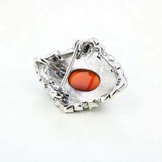 Brosa argint Vintage Carneol Rosu cu marcasite - ICA0005 Marcasite, Gemstone Rings, Gemstones, Vintage, Jewelry, Jewlery, Gems, Jewerly, Schmuck