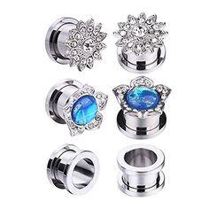 16g 16 gauge 1.2mm 3//8 10mm steel spiral barbells eyebrow twist stud bar AURR Body Piercing Jewelry 5Pcs