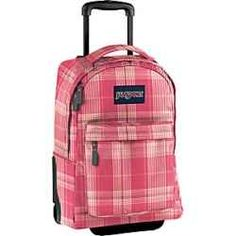 I really wish I had a rolling backpack for girls when I was growing up! They're stylish and oh so useful. I remember hauling my text books to. Jansport Rolling Backpack, Girls Rolling Backpack, Animal Bag, Cheap Bags, Girl Backpacks, Travel Backpack, My Ebay, Fashion Bags, Digital Camera