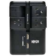 Tripp Lite 4-outlet Rotatable Surge Protector With 2 Usb Ports