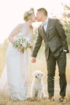 Precious Wedding Pup! | Floral by Gavita Flora | Photo By Retrospect Images #weddingdog #weddingflowers